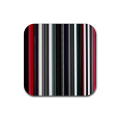Miracle Mile Pattern Rubber Square Coaster (4 pack)