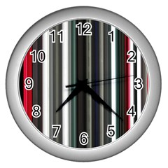 Miracle Mile Pattern Wall Clocks (Silver)