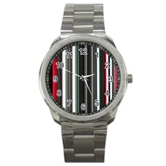 Miracle Mile Pattern Sport Metal Watch