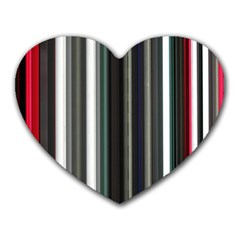 Miracle Mile Pattern Heart Mousepads