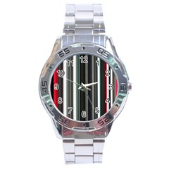 Miracle Mile Pattern Stainless Steel Analogue Watch
