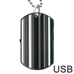 Miracle Mile Pattern Dog Tag USB Flash (One Side)