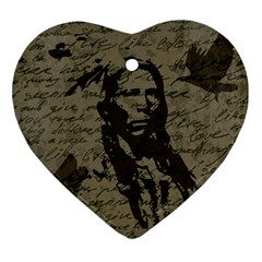 Indian chief Ornament (Heart)