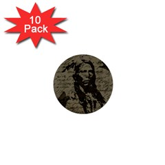 Indian chief 1  Mini Buttons (10 pack)