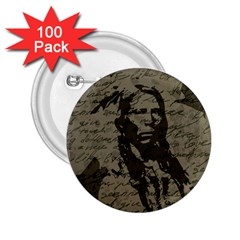 Indian chief 2.25  Buttons (100 pack)