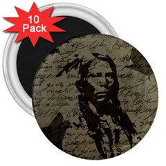 Indian chief 3  Magnets (10 pack)