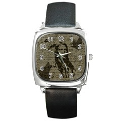 Indian chief Square Metal Watch