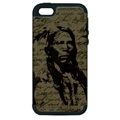 Indian chief Apple iPhone 5 Hardshell Case (PC+Silicone)