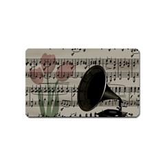 Vintage music design Magnet (Name Card)