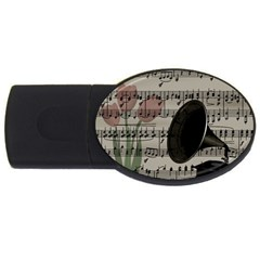 Vintage music design USB Flash Drive Oval (2 GB)