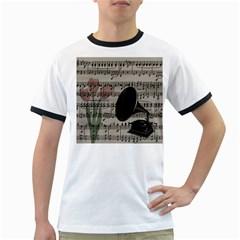 Vintage music design Ringer T-Shirts