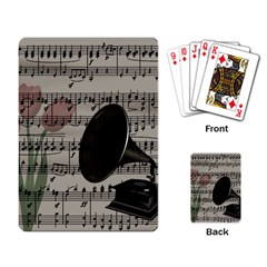 Vintage music design Playing Card
