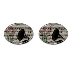 Vintage Music Design Cufflinks (oval)