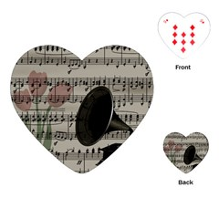 Vintage music design Playing Cards (Heart)