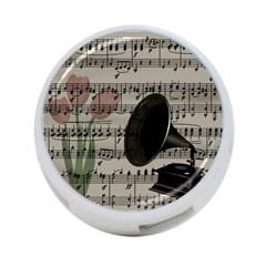 Vintage music design 4-Port USB Hub (Two Sides)