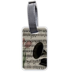 Vintage music design Luggage Tags (Two Sides)