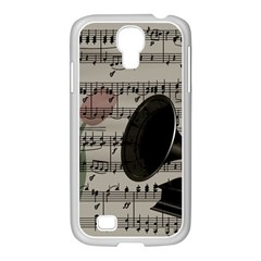 Vintage music design Samsung GALAXY S4 I9500/ I9505 Case (White)