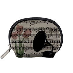 Vintage music design Accessory Pouches (Small)