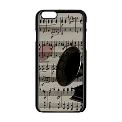 Vintage music design Apple iPhone 6/6S Black Enamel Case