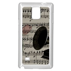Vintage music design Samsung Galaxy Note 4 Case (White)