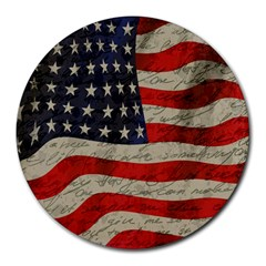 Vintage American flag Round Mousepads