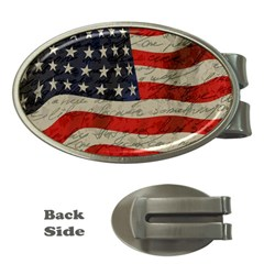 Vintage American flag Money Clips (Oval)