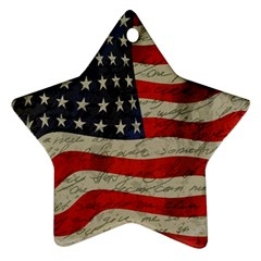 Vintage American flag Star Ornament (Two Sides)
