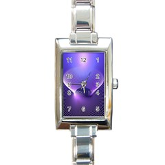 Abstract Fractal 3d Purple Artistic Pattern Line Rectangle Italian Charm Watch