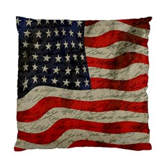 Vintage American flag Standard Cushion Case (Two Sides)