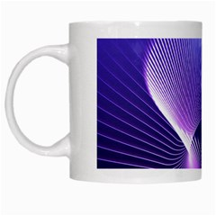 Abstract Fractal 3d Purple Artistic Pattern Line White Mugs
