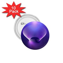 Abstract Fractal 3d Purple Artistic Pattern Line 1.75  Buttons (10 pack)