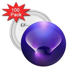 Abstract Fractal 3d Purple Artistic Pattern Line 2 25  Buttons (100 Pack)