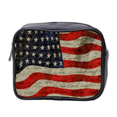 Vintage American flag Mini Toiletries Bag 2-Side