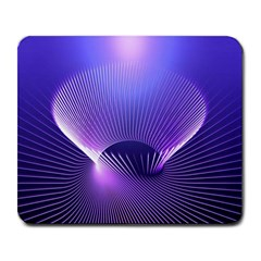 Abstract Fractal 3d Purple Artistic Pattern Line Large Mousepads