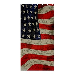 Vintage American flag Shower Curtain 36  x 72  (Stall)