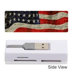 Vintage American flag Memory Card Reader (Stick)