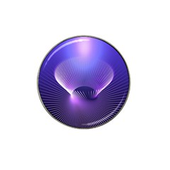 Abstract Fractal 3d Purple Artistic Pattern Line Hat Clip Ball Marker (10 Pack)