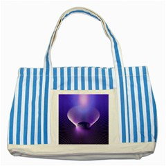 Abstract Fractal 3d Purple Artistic Pattern Line Striped Blue Tote Bag