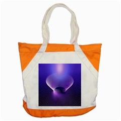 Abstract Fractal 3d Purple Artistic Pattern Line Accent Tote Bag