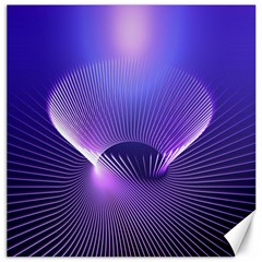 Abstract Fractal 3d Purple Artistic Pattern Line Canvas 16  X 16