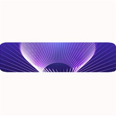 Abstract Fractal 3d Purple Artistic Pattern Line Large Bar Mats
