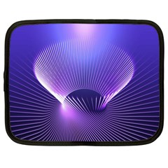 Abstract Fractal 3d Purple Artistic Pattern Line Netbook Case (large)
