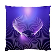 Abstract Fractal 3d Purple Artistic Pattern Line Standard Cushion Case (two Sides)