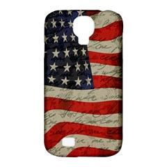 Vintage American flag Samsung Galaxy S4 Classic Hardshell Case (PC+Silicone)