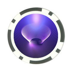 Abstract Fractal 3d Purple Artistic Pattern Line Poker Chip Card Guard (10 Pack)
