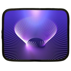 Abstract Fractal 3d Purple Artistic Pattern Line Netbook Case (xxl)