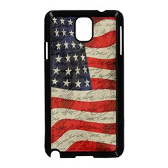 Vintage American flag Samsung Galaxy Note 3 Neo Hardshell Case (Black)