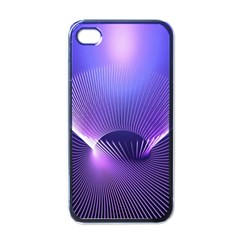 Abstract Fractal 3d Purple Artistic Pattern Line Apple Iphone 4 Case (black)
