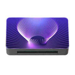 Abstract Fractal 3d Purple Artistic Pattern Line Memory Card Reader with CF