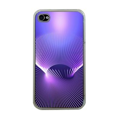 Abstract Fractal 3d Purple Artistic Pattern Line Apple Iphone 4 Case (clear)